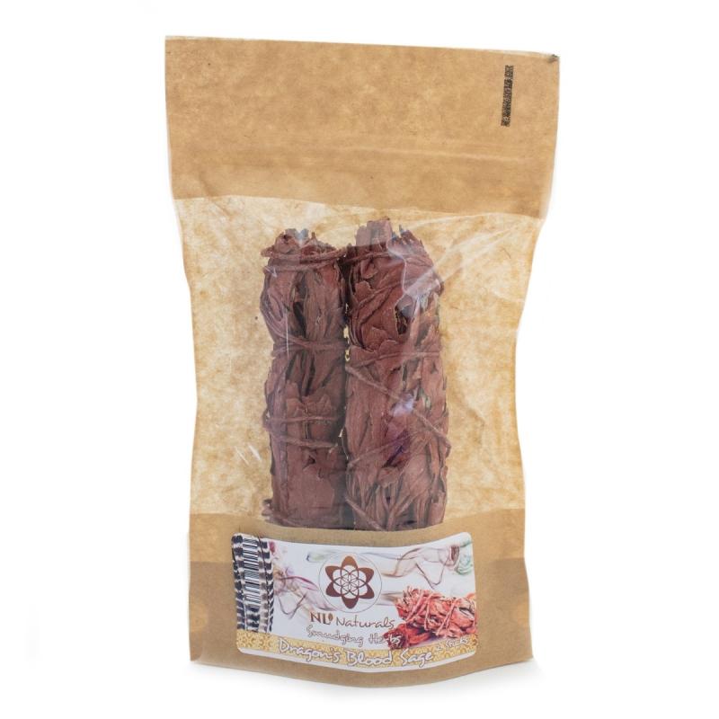 Smudging & Wierook  Dragon's Blood Salie - 2 Smudge Sticks € 10,95
