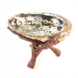 Incense Burners Abalone Shell with wooden pedestal € 14,95