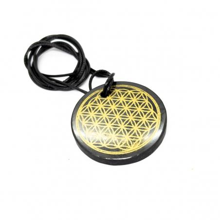 Real Shungite Shungite Necklace - Flower of Life - Large   18,50 Next Level Smartshop Webshop