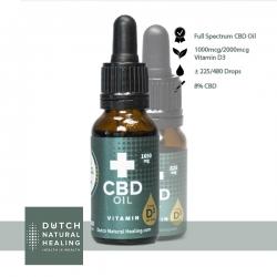 CBD olie + Vitamine D3 - 8%...